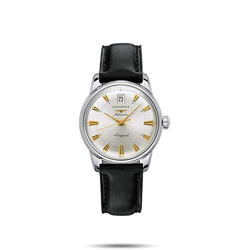 LonginesL16114752 -Reloj de Pulsera para Hombre, analógico, automático, Piel