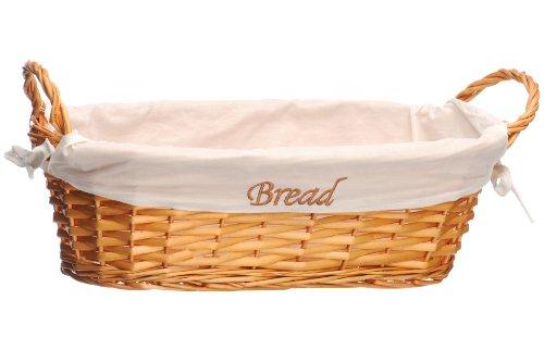 Premier Housewares Cesto di vimini per il pane con rivestimento naturale
