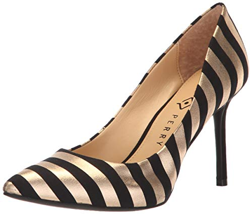 Katy Perry Women's The Sissy Pump, BLACK GOLD, 7 M M US