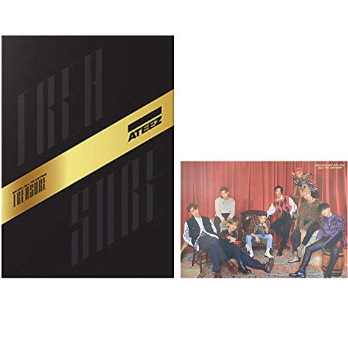ATEEZ Treasure EP.FIN : All to Action Album (A Version) CD+Poster+Post Cards+Treasure Film & Card+Sticker+Photobook+Photocard+(Extra 10 Photocards)