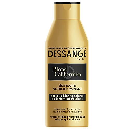 Dessange, Shampoo nutriente illuminante con effetto schiarente graduale, Biondo californiano, 250 ml