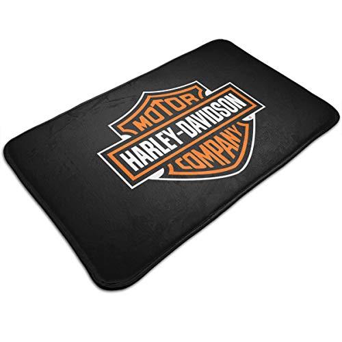 N / A Tapis de bain Harley Davidson - En flanelle - Antidérapant - Forte absorption - Doux - 50 x 80 cm