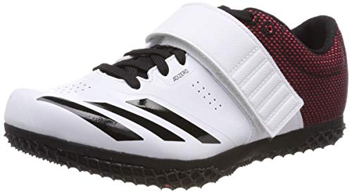 adidas Unisex-Erwachsene Adizero HJ Leichtathletikschuhe, Weiß FTWR White Core Black Shock Red, 44 2/3 EU