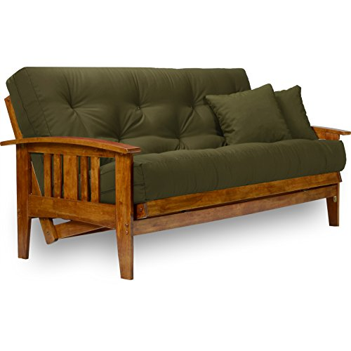 Westfield Futon Frame - Queen Size, Solid Hardwood in Heritage Finish