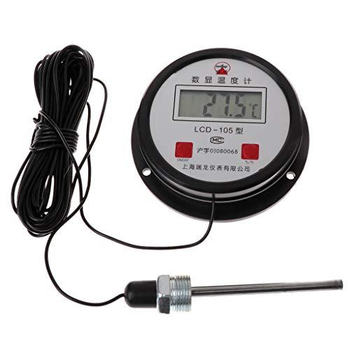 FangWWW Hochtemperatur-Wasserkessel Digitales Thermometer, 10 m Draht mit Sonde