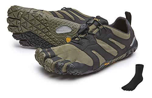 Fivefingers Vibram V-Trail 2.0 - Calcetines con dedos para mujer (talla 41), color negro