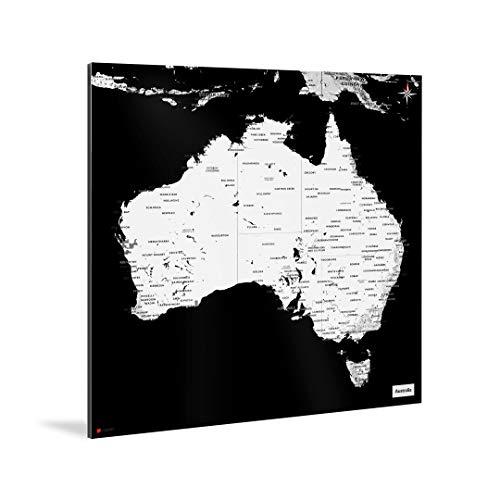 mapdid Australien-Landkarte Kaia   Poster, Verschiedene Größen   Stadtkarte Weltkarte (70 x 70 cm)