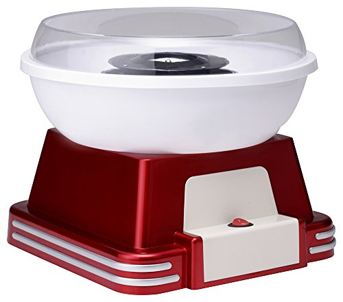 Ricatech Retro Line Cotton Candy Maker maquina algodon de azucar, Rojo, Blanco