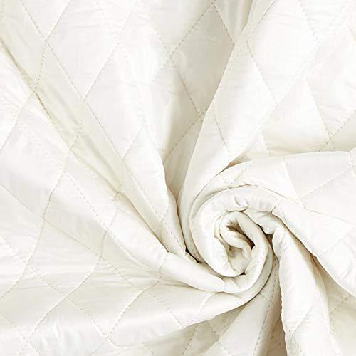 Fabulous Fabrics Steppstoff Doubleface – wollweiss — Meterware ab 0,5m — zum Nähen von Jacken, Weste und Mäntel