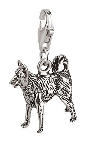 Charm Anhänger Hund Border Collie 2 aus 925 Sterling Silber