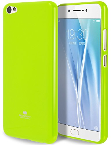 Goospery Marlang Marlang Vivo X7Plus Hülle, Gratis Bildschirmschutzfolie [Slim Fit] TPU Fall [Flexibel] Pearl Jelly [Schutz] Bumper Cover für Vivo X7Plus, Lindgrün