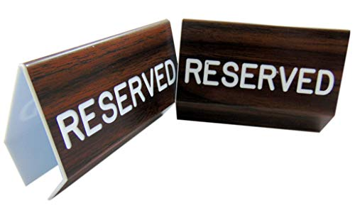 Reserved Sign for Church Pews with Two Sided Script and Easy Clamp On Attachment, Set of 2