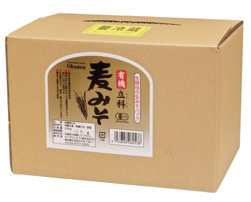 有機立科麦みそ3.6kg箱入 ※送料無料(一部地域を除く)