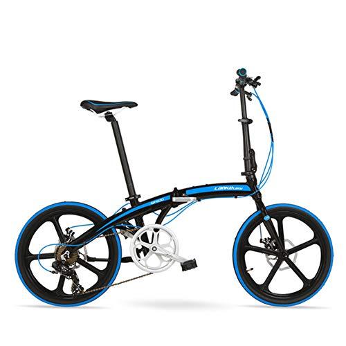 7 Geschwindigkeiten Kompakte Klappräder,Aluminiumlegierung Rahmen Doppelscheibenbremse Pendler-Fahrrad,20 Zoll Faltfahrrad Zu City Riding Unisex