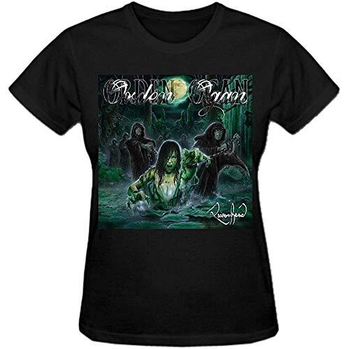 Timika Campbell Orden Ogan Ravenhead 100% Cotton Tee Shirts for Women Crew Neck Black(Size:XXXL