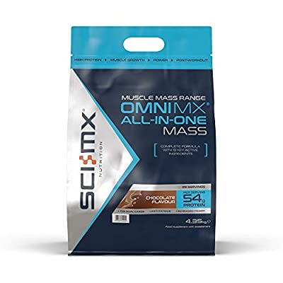 SCI-MX Nutrition OMNI-MX Protein Powder All-in-One Chocolate Mass Shake, 4.35 kg, 29 Servings by SCI-MX Nutrition