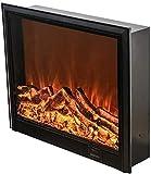 MIEMIE Calentador eléctrico de 2 Modos de calefacción para chimeneas de Pared y empotradas Efecto de Llama y Control Remoto para Uso en Interiores E