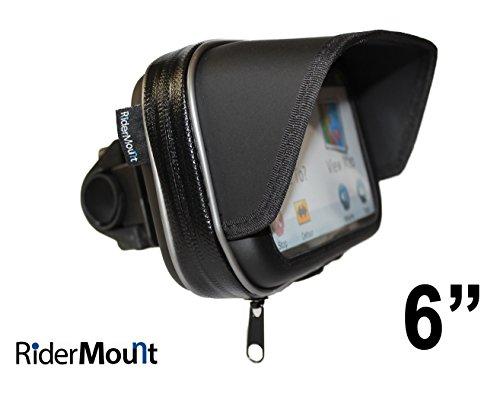 RiderMount Waterdichte zonwering 15,2 cm GPS SatNav beschermhoes met motorfiets stuurhouder voor Garmin TomTom 15,2 cm