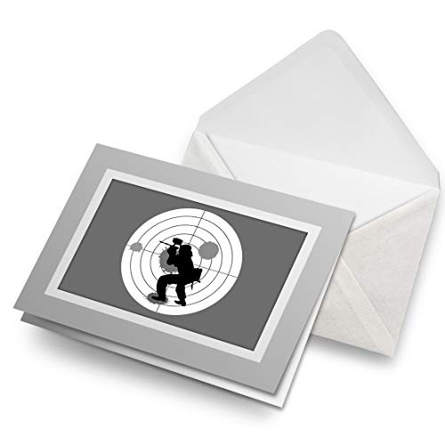 Impresionantes tarjetas de felicitación gris (inserto) BW – juego de paintball blanco tarjeta de felicitación de cumpleaños para niños y niñas #39839