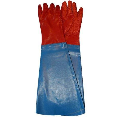 60 cm PVC Handschuhe lang mit Ärmel, Arbeitshandschuhe Gummihandschuhe-lang