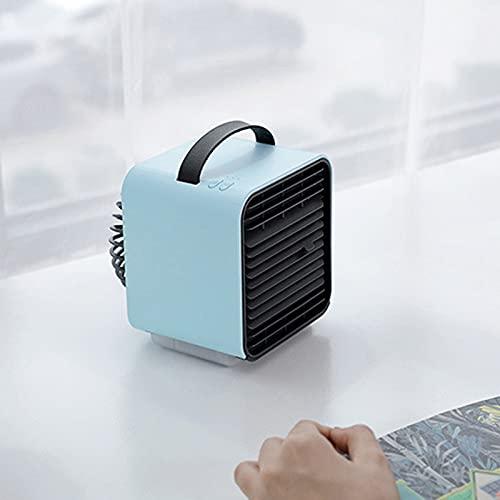 Wendao Mini aire acondicionado de iones negativos USB Ventilador de oficina dormitorio hogar pequeño refrigerador de aire