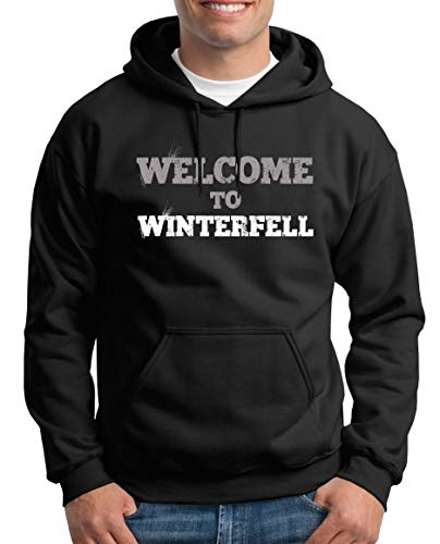 TShirt-People Welcome to Winterfell Pull à Capuche pour Homme Thrones Stark Game - Noir - XX-Large