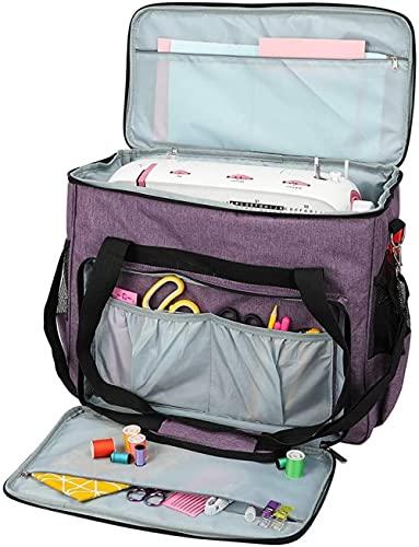 HUIHUIGE Bolsa de armazenamento para máquina de costura, bolsa de transporte, impermeável, durável, grande capacidade, portátil, compras, acampamento, impermeável, roxo, lindo