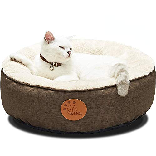 HACHIKITTY Washable Donut Cat Bed Round