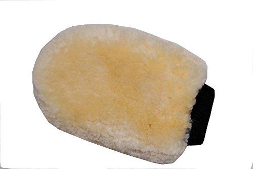 Merauno Horse Sheepskin Grooming Mitt Lambskin Cleaning Glove Natural