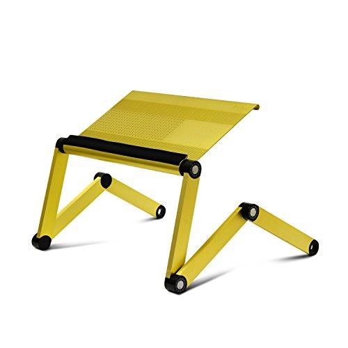 Furinno Ergonomics Aluminum Vented Adjustable Multi-functional Laptop Desk Portable Bed Tray