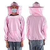 XINXI-YW Conveniente Apicultor de Vestuario al Aire Libre Apicultura Velo Protector Transpirable Chaqueta de Traje de Abeja Apicultor Fuentes de la Apicultura Traje Decorativo (Color : Pink)