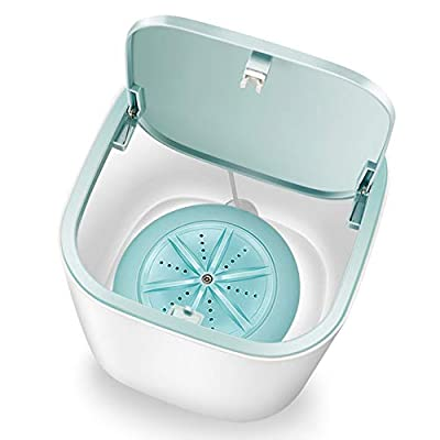 Decdeal Portable Washing Machine, Mini Washing Machine With Ultrasonic Sterilization/Super Silent/High Speed Turbine/USB Chargeable/Rotate Bidirectional, specially used to wash underwear/baby clothes