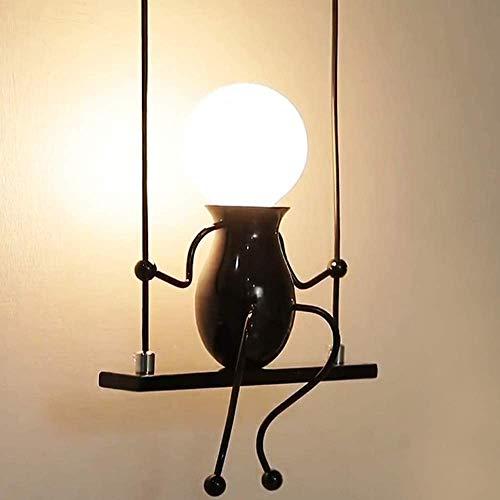 Humanoide Lámparas de Pared Doll Swing Lámpara de Pared Apliques de Pared Metal Lámpara de Pared para Dormitorio, Escalera, Pasillo, Restaurante, Cocina E27