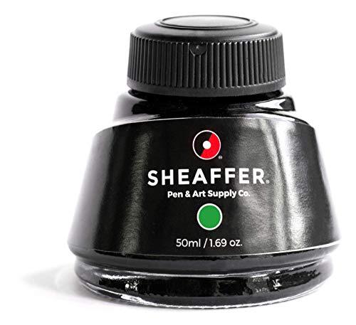 Sheaffer Skrip De 2 Oz - Frasco de tinta para pluma estilográfica, color verde