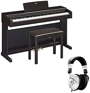 $1099 » Yamaha Arius YDP-144 88-Key Traditional Console Digital Piano with Bench & PA150 AC Power Adapter, Dark Rosewood - With H&A Closed-Back Studio Monitor Headphones