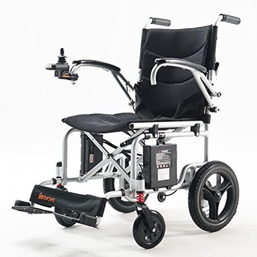 GWXSST Scooter eléctrico de cuatro ruedas para los ancianos, el control inteligente y el plano plegable ligero