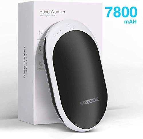 SGODDE Powerbank,Handwärmer wiederaufladbar USB, 7800 mAh externer Akku Handwärmer Handwärmer Handwärmer für iPhone, Samsung, iPad, Handwärmer tragbar für Männer und Frauen