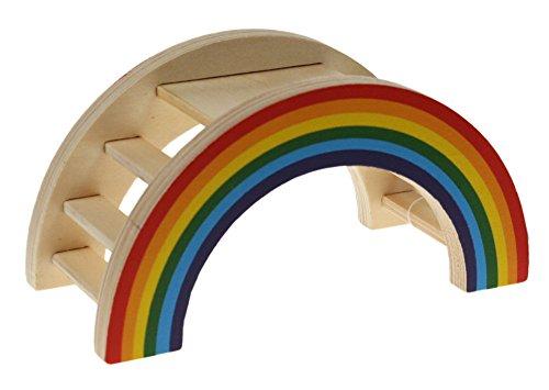 Rosewood 19277 Boredom Breaker Aktivitäts-Regenbogenbrücke für Kleintiere, Small