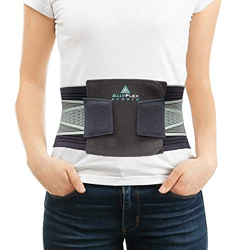 AllyFlex Sports Lumbar Support - Back Brace For Men & Women Ergonomic Design and Lightweight Breathable Material Provide Back Support and Pain Relief for Waist - XL/XXL (39.0'' - 47.5'')