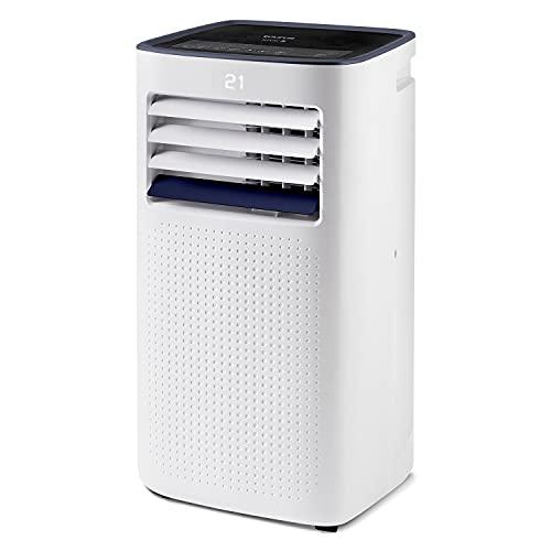 Taurus Cold Design - Aire acondicionado portátil. 3 en 1: frío, deshumidificador y ventilador. Silencioso. Temporizador. Con mando a distancia. Con kit ventana. Ruedas. Blanco. 780W.