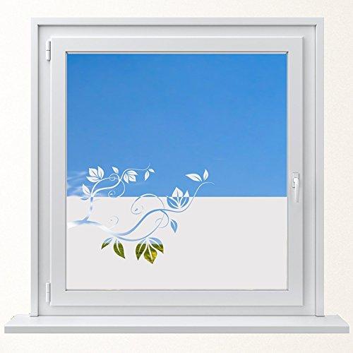 DD Dotzler Design 6416-2 individuelle Sichtschutzfolie Fensterfolie Milchglas Blumenranke