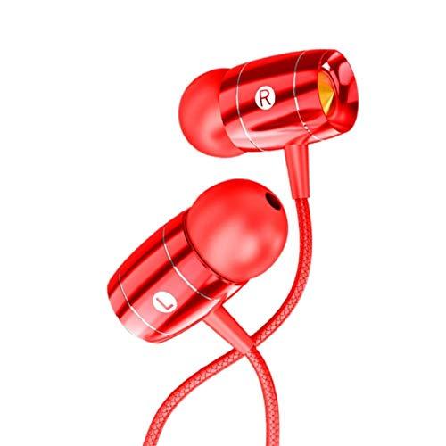 Socobeta Auriculares de teléfono móvil con cable, cancelación de ruido mejorada, para diferentes escenas de ruido (rojo)