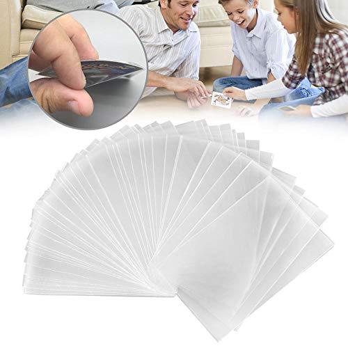 Chirsemey Fundas De Cartas De Juegos, Magic Transparent Poker Cards Protector Protector De Tarjetas De Juego De Mesa, 100 PCS
