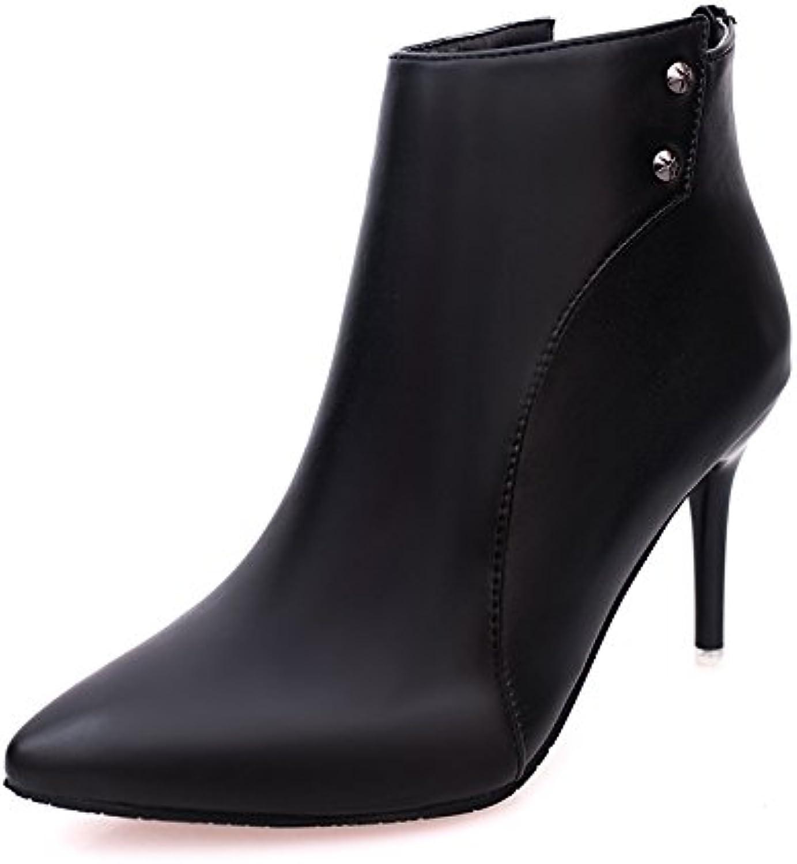 best loved 552cf 9a0aa Dony hochhackige Schuhe der der der Dame mit feiner Spitz, kurz, gerade und  bequem High Heel Schuhe der Dame, Thirty-six, Schwarz B07D7VN3J8 Am ...