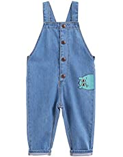 marc janie Boys Fashion Denim Overalls Baby Boys Cute Jeans Strap Pants