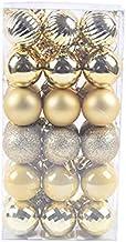 GAOYUAN 36Pcs Kerstballen Ornamenten Voor Xmas Tree Plastic Kerstballen Gekleurde Glitter Voor Home Party Bruiloft Decor(...