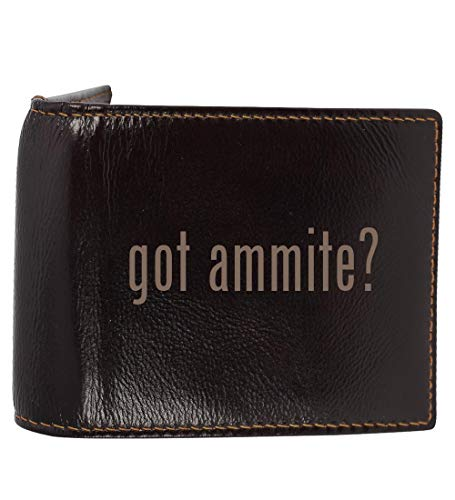 #ammite - Genuine Engraved Hashtag Soft Cowhide Bifold Leather Wallet