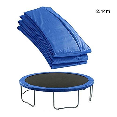 Gorgebuy - Funda para trampolín universal, almohadilla de seguridad de repuesto para cama elástica, resistente al agua, cubierta de resorte envolvente de larga duración, 2,44 metros