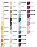 Estella Doppelpack Zwirn Jersey Spannbetttuch, Spannbettlaken 90x200 cm bis 120x220 cm Farbe 051 Cyan