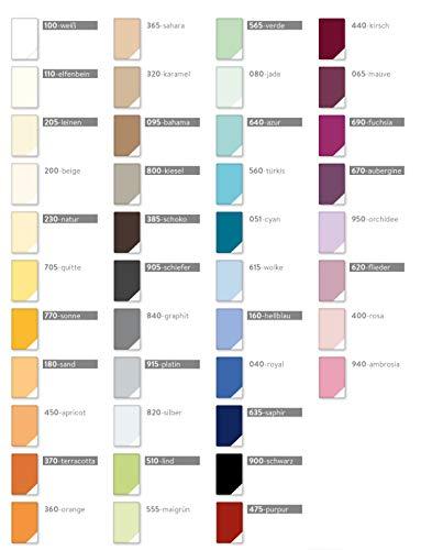 ESTELLA Doppelpack Feinjersey Spannbetttuch, Spannbettlaken 90x200 cm bis 100x200 cm Farbe 450-Apricot